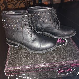 Gia Mia Studded Combat boots